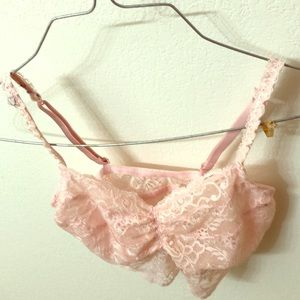 Peach, Victoria's Secret Lace Camisole Bra  Small